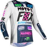 FOX RACING KIDS PEEWEE 180 CZAR JERSEY - LIGHT GRAY