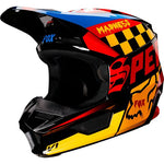 FOX RACING YOUTH V1 CZAR HELMET - BLACK YELLOW