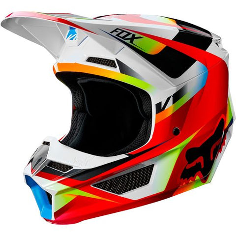 FOX RACING YOUTH V1 MOTIF HELMET - RED WHITE