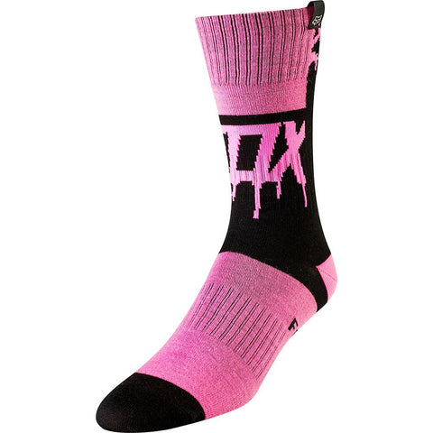 FOX RACING YOUTH GIRLS MATA DRIP MX SOCK - BLACK PINK