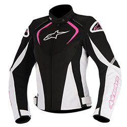 ALPINESTARS STELLA T JAWS WATERPROOF JACKET - BLACK WHITE PINK