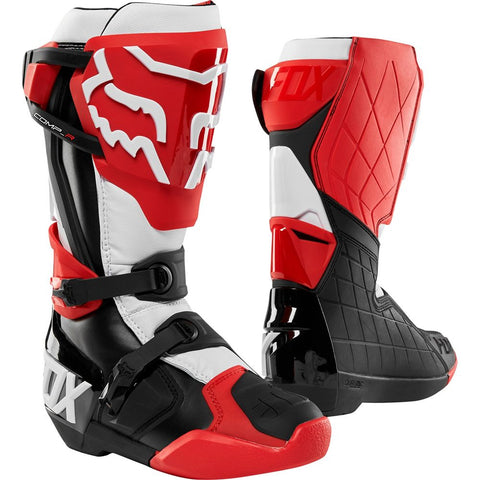 FOX RACING MENS COMP R BOOTS - RED WHITE BLACK