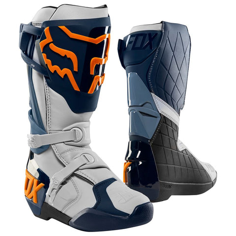 FOX RACING MENS COMP R BOOTS - NAVY ORANGE
