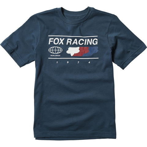 FOX RACING YOUTH GLOBAL BASIC TEE - NAVY