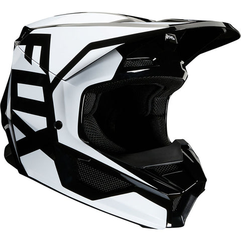 2020 FOX RACING YOUTH V1 PRIX HELMET - BLACK WHITE
