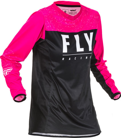 NEW 2020 FLY RACING WOMENS LITE JERSEY - NEON PINK BLACK
