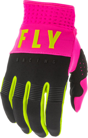 FLY RACING YOUTH GIRLS F-16 GLOVE - BLACK PINK