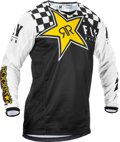 NEW 2020 FLY RACING FLY KINETIC ROCKSTAR JERSEY - BLACK WHITE