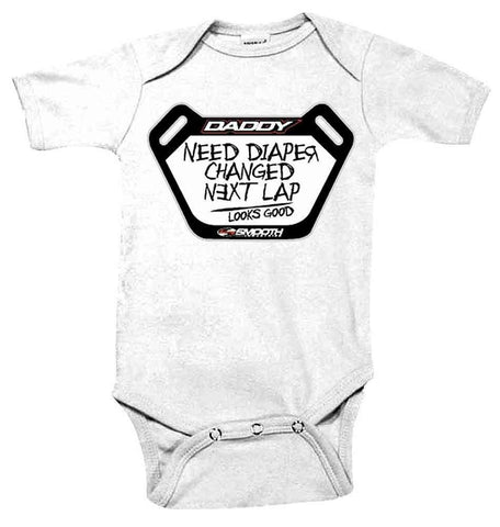 INFANT DADS PIT BOARD KIDS MOTOCROSS ROMPERS