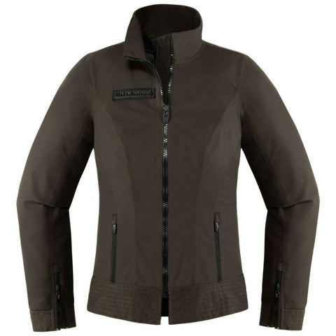 ICON WOMENS FAIRLADY JACKET LARGE - ESPRESSO