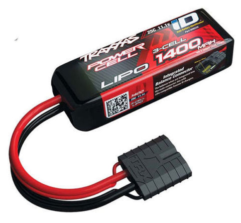 TRAXXAS 11.1V 3S 3-CELL 1400MAH ID LIPO BATTERY 1/16