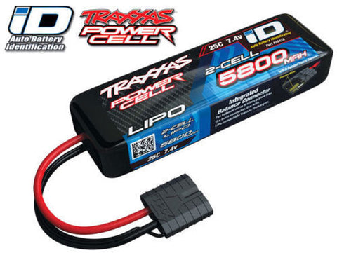 TRAXXAS 5800MAH 7.4V 2S 2-CELL LIPO BATTERY W/ID CONNECTOR