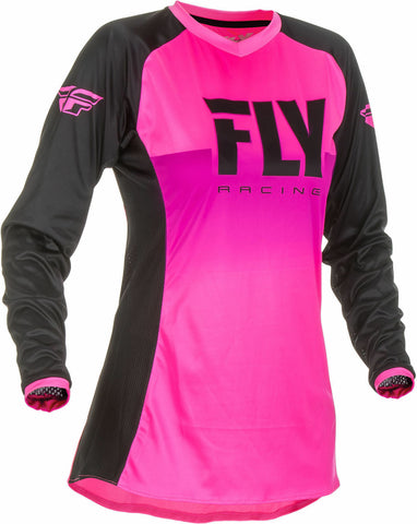 FLY RACING WOMENS LITE JERSEY - NEON PINK/BLACK