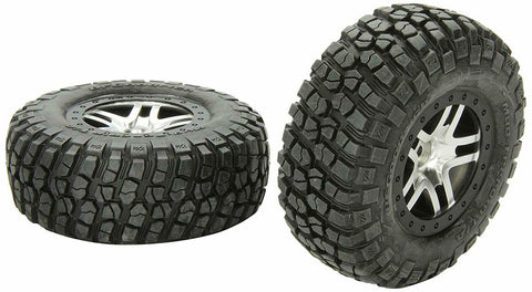 TRAXXAS TRA6873X TIRES/WHEELS ASSEMBLED BLACK BEADLOCK (2)
