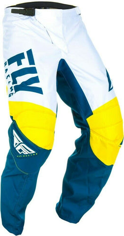 FLY RACING F-16 PANTS - YELLOW WHITE NAVY