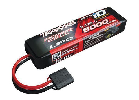TRAXXAS 5000MAH 11.1V 25C POWER CELL LIPO BATTERY W/ID CONNECTOR