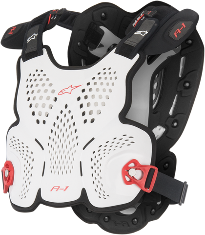 ALPINESTARS ADULT A1 CHEST PROTECTOR DEFLECTOR - WHITE
