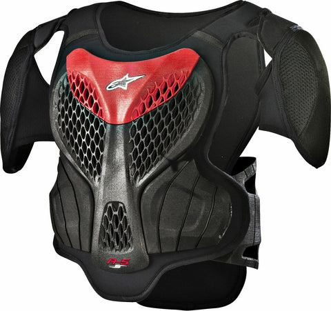 ALPINESTARS YOUTH A5-S ROOST GUARD - BLACK/RED