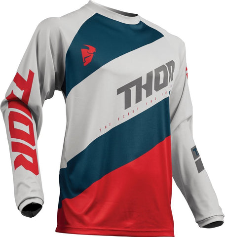 THOR YOUTH S9Y SECTOR SHEAR JERSEY - GRAY RED