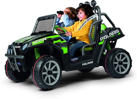 PEG PEREGO POLARIS RZR 900 24-VOLT BATTERY-POWERED RIDE-ON - GREEN SHADOW