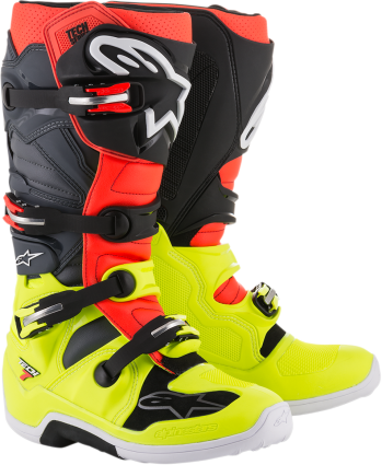 ALPINESTARS TECH 7 BOOT - RED BLACK YELLOW
