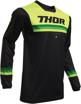 NEW 2020 THOR PULSE PINNER JERSEY - BLACK ACID
