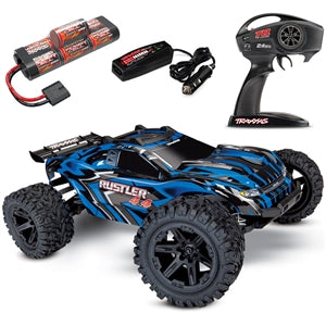 TRAXXAS RUSTLER 4X4 BRUSHED RTR STADIUM TRUCK W/BATTERY & QUICK CHARGER