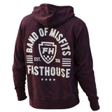 FASTHOUSE THE BAND ZIP HOODIE - MAROON