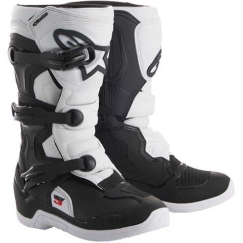 ALPINESTARS KIDS / YOUTH TECH 3S BOOTS - BLACK WHITE