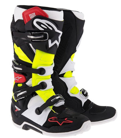 ALPINESTARS TECH 7 BOOT - BLACK RED YELLOW