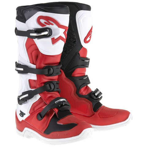 ALPINESTARS TECH 5 BOOT - RED WHITE BLACK