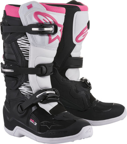 ALPINESTARS WOMENS STELLA TECH 3 BOOT - BLACK WHITE PINK