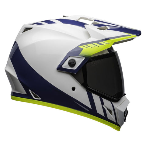 MX-9 ADVENTURE MIPS DASH HELMET - WHITE BLACK HIVIZ