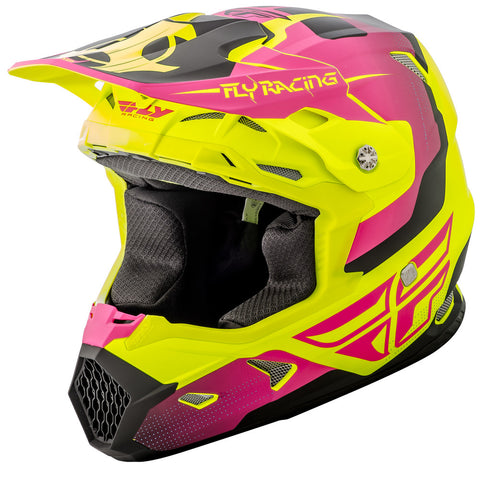 FLY RACING YOUTH TOXIN ORIGINAL HELMET MATTE - HI-VS PINK