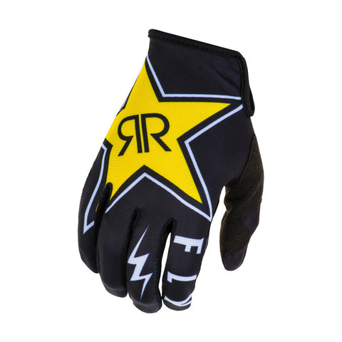 NEW 2020 FLY RACING LITE ROCKSTAR GLOVES - BLACK YELLOW