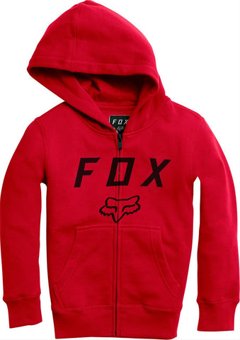 FOX RACING YOUTH LEGACY MOTH ZIP FLEECE - RED