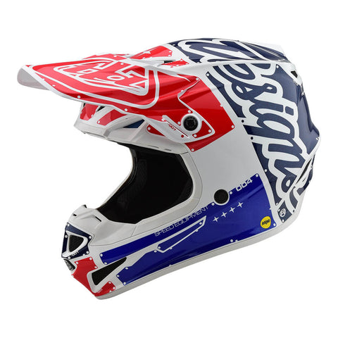 TROY LEE DESIGNS YOUTH SEE POLYACRYLITE FACTORY HELMET - WHITE BLUE