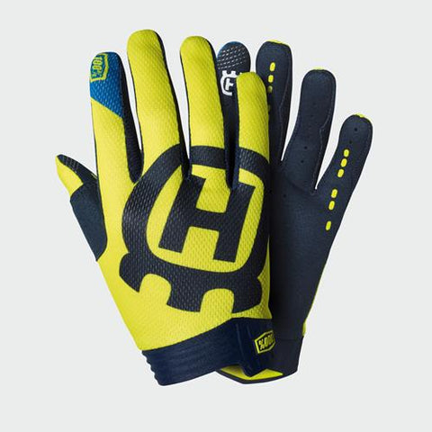 2020 100% HUSQVARNA KIDS ITRACK RAILED GLOVES