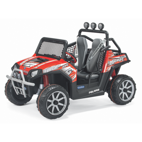PEG PEREGO POLARIS RZR 900 24-VOLT BATTERY-POWERED RIDE-ON - RED