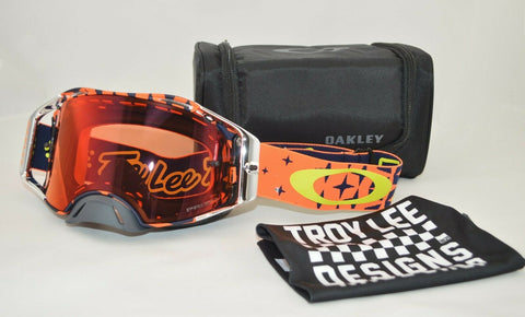 OAKLEY® AIRBRAKE™ PRIZM™ GOGGLES MX TROY LEE MEGA ORANGE