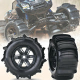 TRAXXAS X-MAXX PADDLE TIRES ON BLACK WHEELS
