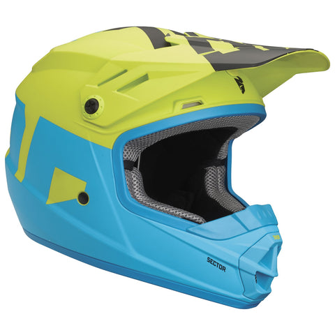 THOR YOUTH SECTOR LEVEL HELMET - BLUE LIME
