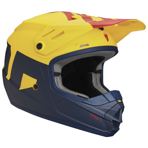 THOR YOUTH SECTOR LEVEL HELMET - NAVY YELLOW