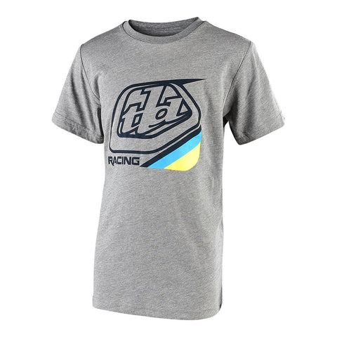 TROY LEE DESIGNSYOUTH PRECISION 2.0 TEE - DARK HEATHER GRAY