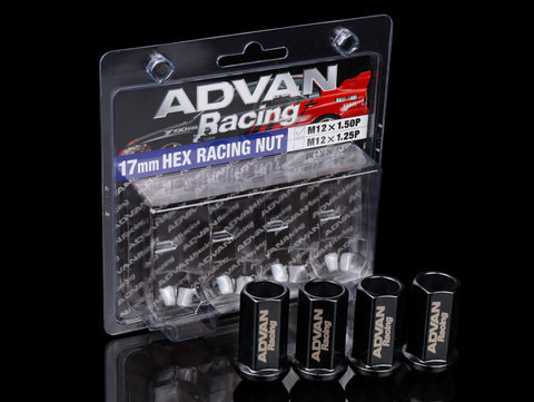 Advan Racing Lug Nuts 17mm - Black