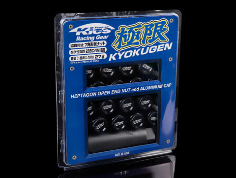 Project Kics Kyokugen Lug Nut Set with Black Aluminum Cap