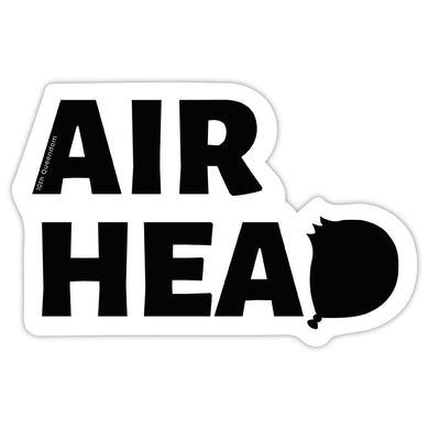 Airhead - Premium Matte Waterproof Bubble-Free Vinyl Decal Laptop Sticker