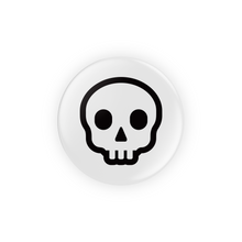 Load image into Gallery viewer, Skull Pin-Back Button