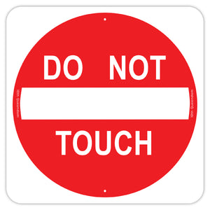 Do Not Touch Sign Stickers