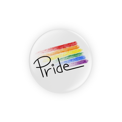 Pride Rainbow Streak Pin-Back Button